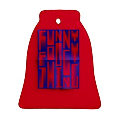 Funny Foggy Thing Bell Ornament (Two Sides)