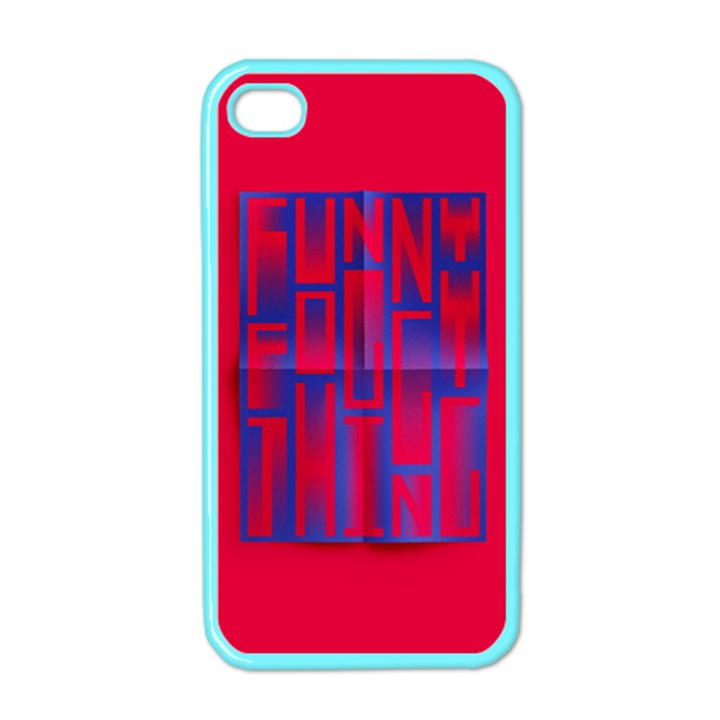 Funny Foggy Thing Apple iPhone 4 Case (Color)
