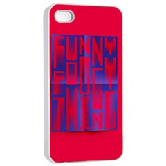 Funny Foggy Thing Apple Iphone 4/4s Seamless Case (white)