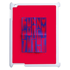Funny Foggy Thing Apple iPad 2 Case (White)