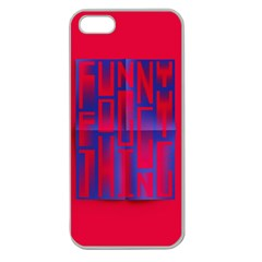 Funny Foggy Thing Apple Seamless Iphone 5 Case (clear)