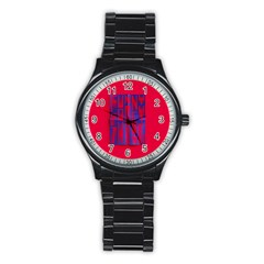 Funny Foggy Thing Stainless Steel Round Watch