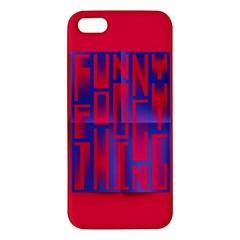 Funny Foggy Thing iPhone 5S/ SE Premium Hardshell Case