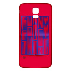 Funny Foggy Thing Samsung Galaxy S5 Back Case (white)