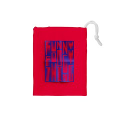 Funny Foggy Thing Drawstring Pouches (Small)