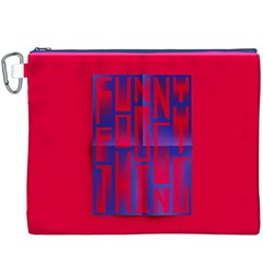 Funny Foggy Thing Canvas Cosmetic Bag (XXXL)
