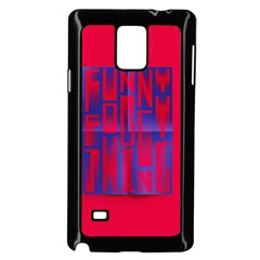 Funny Foggy Thing Samsung Galaxy Note 4 Case (black)