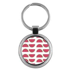 Watermelon Pattern Key Chains (round)