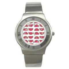 Watermelon Pattern Stainless Steel Watch