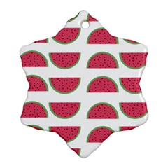 Watermelon Pattern Ornament (Snowflake)