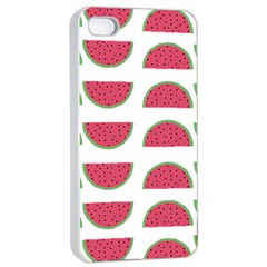 Watermelon Pattern Apple iPhone 4/4s Seamless Case (White)