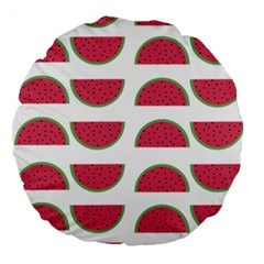 Watermelon Pattern Large 18  Premium Round Cushions