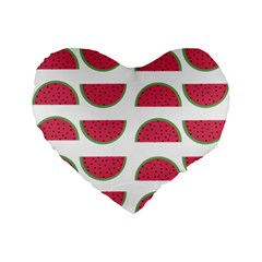 Watermelon Pattern Standard 16  Premium Heart Shape Cushions