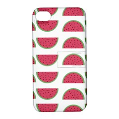 Watermelon Pattern Apple Iphone 4/4s Hardshell Case With Stand