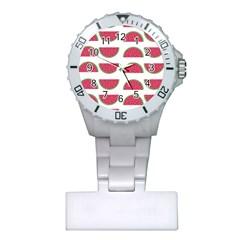 Watermelon Pattern Plastic Nurses Watch