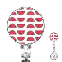 Watermelon Pattern Stainless Steel Nurses Watch