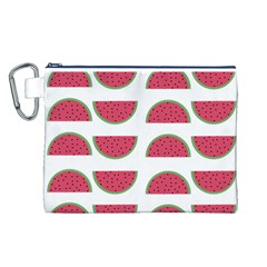 Watermelon Pattern Canvas Cosmetic Bag (l)