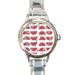 Watermelon Pattern Round Italian Charm Watch