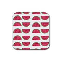 Watermelon Pattern Rubber Square Coaster (4 pack)