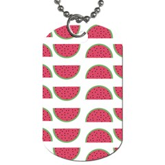 Watermelon Pattern Dog Tag (Two Sides)