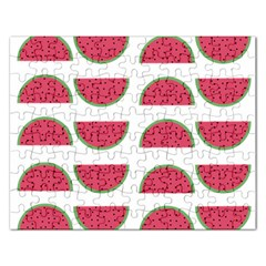 Watermelon Pattern Rectangular Jigsaw Puzzl