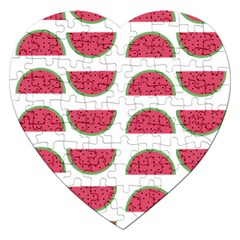 Watermelon Pattern Jigsaw Puzzle (Heart)