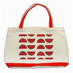 Watermelon Pattern Classic Tote Bag (Red)