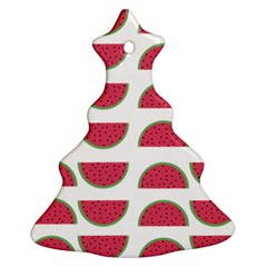 Watermelon Pattern Christmas Tree Ornament (Two Sides)