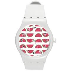 Watermelon Pattern Round Plastic Sport Watch (M)