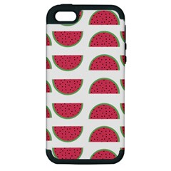 Watermelon Pattern Apple Iphone 5 Hardshell Case (pc+silicone)