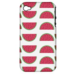 Watermelon Pattern Apple iPhone 4/4S Hardshell Case (PC+Silicone)