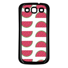 Watermelon Pattern Samsung Galaxy S3 Back Case (black)