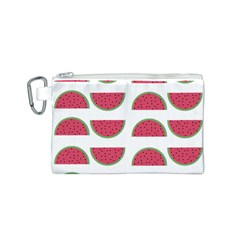 Watermelon Pattern Canvas Cosmetic Bag (S)