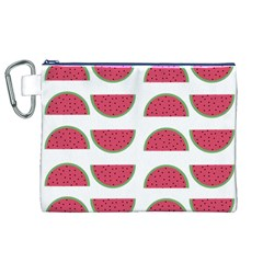 Watermelon Pattern Canvas Cosmetic Bag (xl)