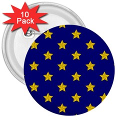 Star Pattern 3  Buttons (10 Pack)