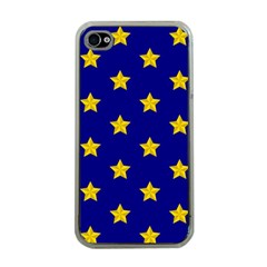 Star Pattern Apple Iphone 4 Case (clear)