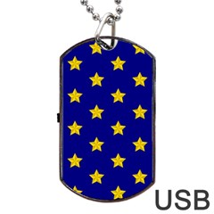 Star Pattern Dog Tag Usb Flash (two Sides)
