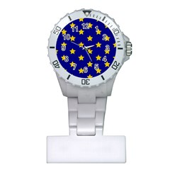 Star Pattern Plastic Nurses Watch