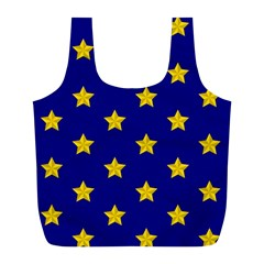 Star Pattern Full Print Recycle Bags (L)