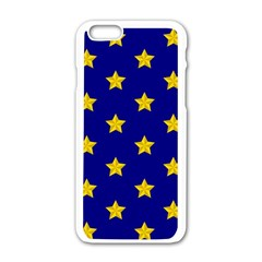 Star Pattern Apple Iphone 6/6s White Enamel Case