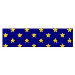 Star Pattern Satin Scarf (oblong)
