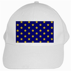 Star Pattern White Cap
