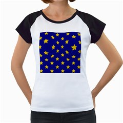 Star Pattern Women s Cap Sleeve T