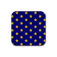 Star Pattern Rubber Coaster (square)
