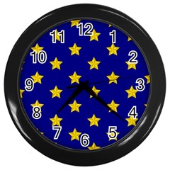 Star Pattern Wall Clocks (black)