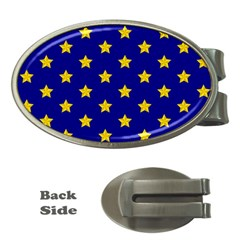 Star Pattern Money Clips (oval)