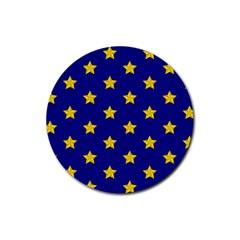 Star Pattern Rubber Coaster (round)