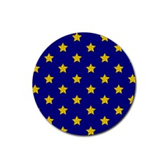 Star Pattern Rubber Round Coaster (4 Pack)