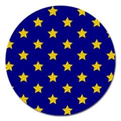 Star Pattern Magnet 5  (round)