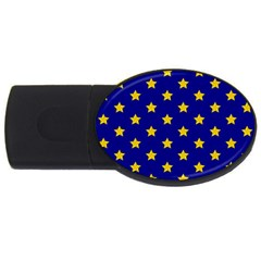 Star Pattern Usb Flash Drive Oval (2 Gb)
